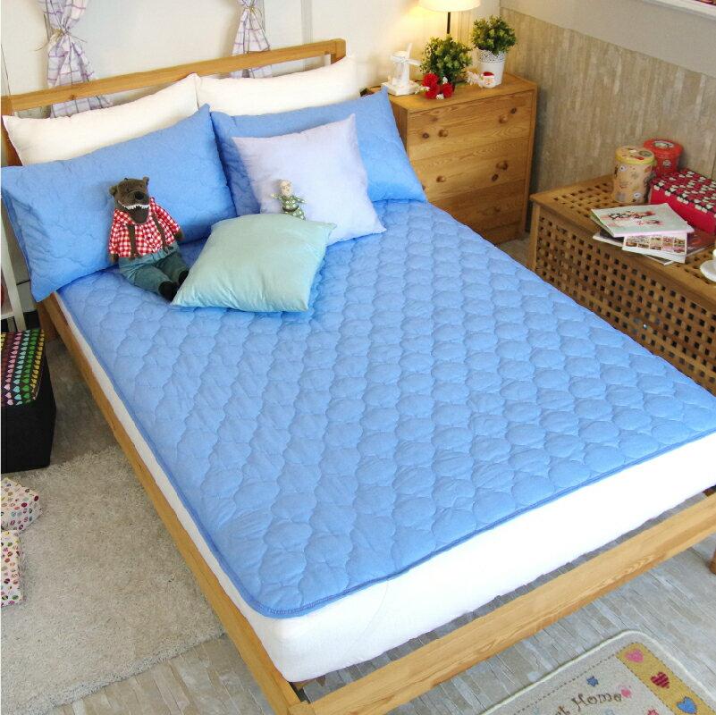 保潔墊平鋪式 3層抗污、加厚鋪棉、台灣製造 #寢國寢城 #馬卡龍 #素色 3