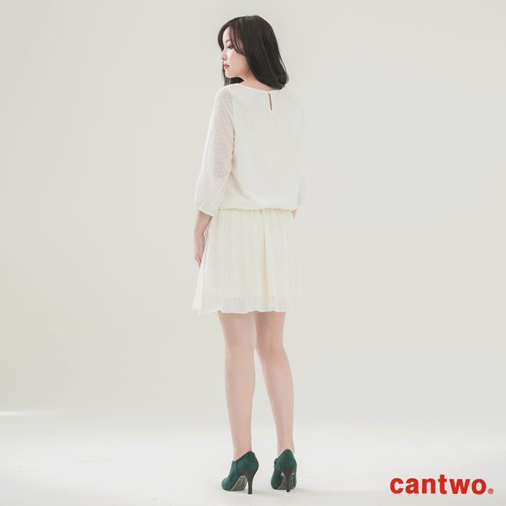 cantwo點點雪紡長袖洋裝(共二色) 3