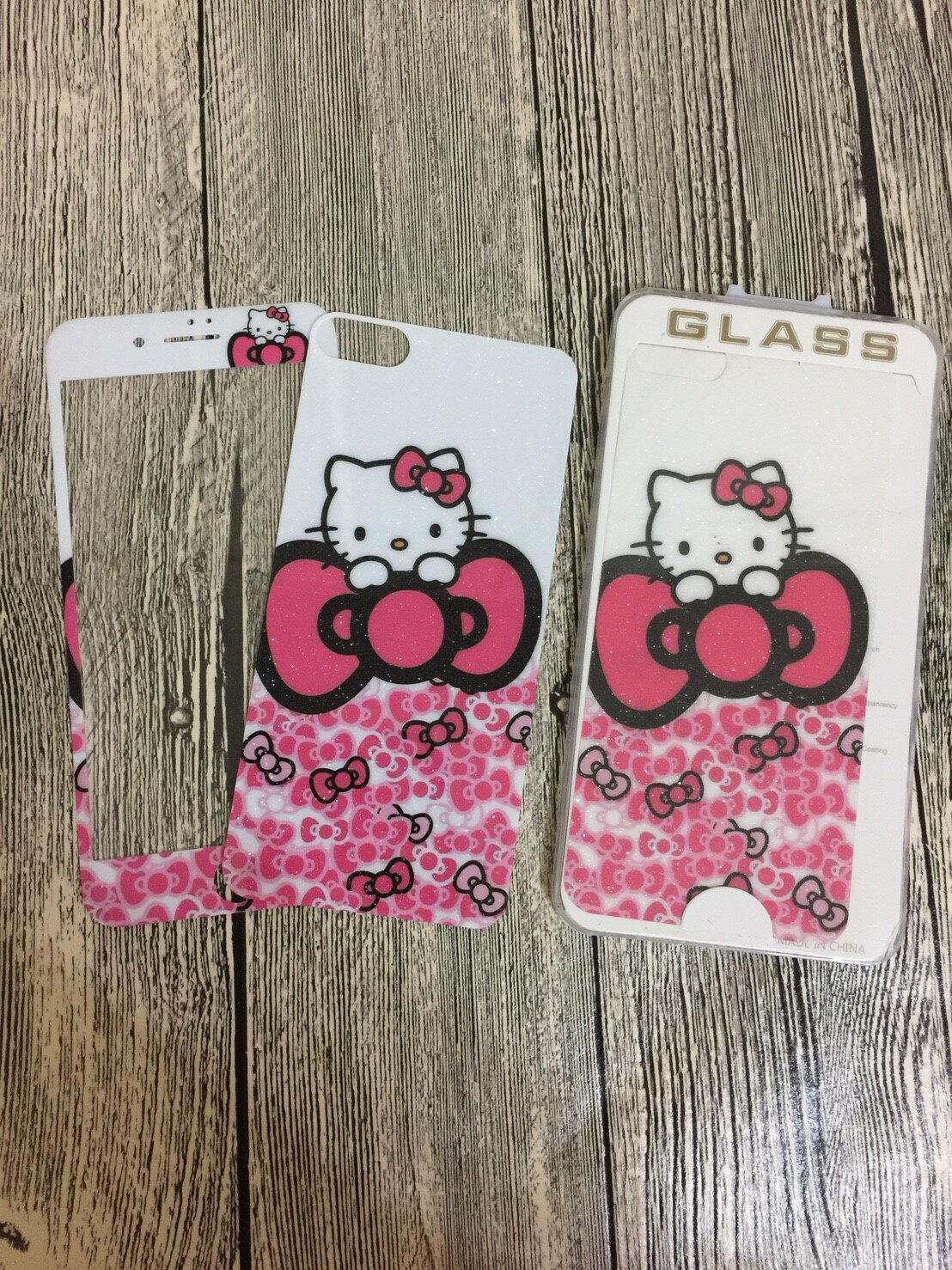 iPhone i6 I6s i6plus i7 i7plus kitty 卡通保護貼 海報版 全屏保護貼 3D卡通 超薄9h鋼化膜 彩膜 手機螢幕貼【GP美貼】