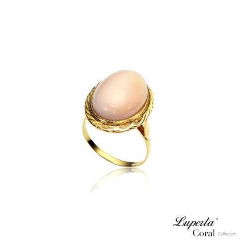 大東山珠寶 美麗奇蹟 頂級天然深水粉珊瑚14K金戒指 0