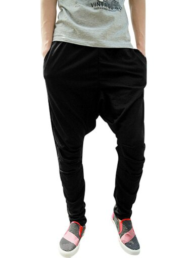 Unique Bargains Men's Sweatpants Sports Harem Pants Black (Size M / W34) 431c99dd70b809a3170f174bfbbb7f2f