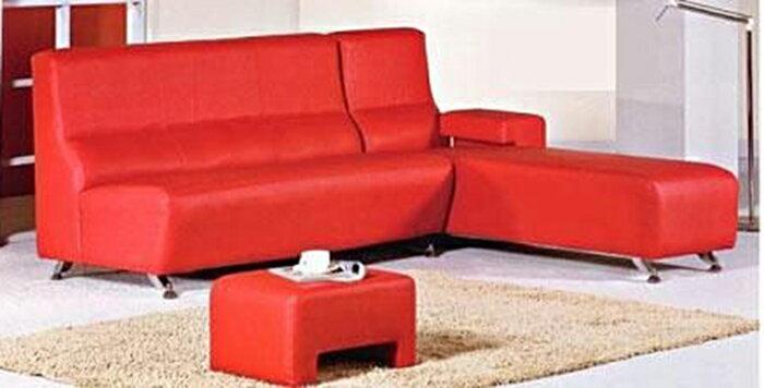 【尚品傢俱】608-04 多功能透氣皮L型造型沙發~台灣製,多種變換組合~
