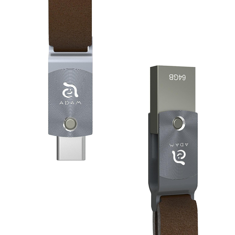 【亞果元素】ROMA USB Type-C 雙用隨身碟 64GB 灰 1