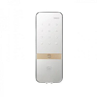 <br/><br/>  YALE耶魯  YDR323 熱感觸控卡片輔助門鎖 /時尚超薄玻璃鏡面 卡片/密碼 二合一<br/><br/>