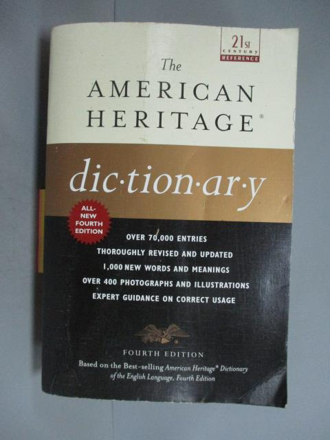 ~書寶 書T3/字典_JDD~The American Heritage Dictionary_Houghton Mi