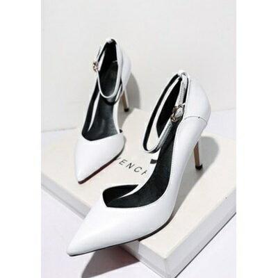 ☆尖頭高跟鞋真皮細跟單鞋 -成熟性感尖頭設計女鞋子4色73iw61【獨家進口】【米蘭精品】