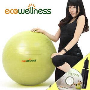 【ecowellness】加厚防爆26吋韻律球(贈送打氣筒)65cm瑜珈球抗力球彈力球.健身球彼拉提斯球復健球體操球大球操.推薦哪裡買C010-001T-26