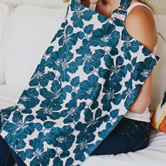【寶貝樂園】美國Mothers Lounge Udder Cover 美型哺乳巾 靛青扶桑