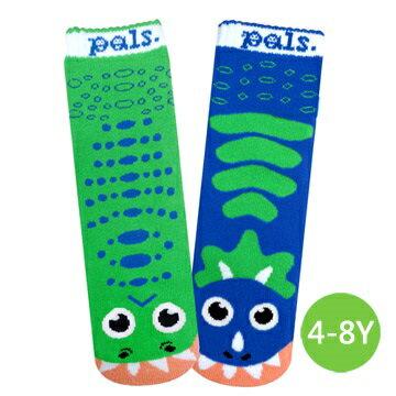 ★衛立兒生活館★美國Pals Socks 好夥伴寶寶襪-暴龍三角龍(4-8Y)