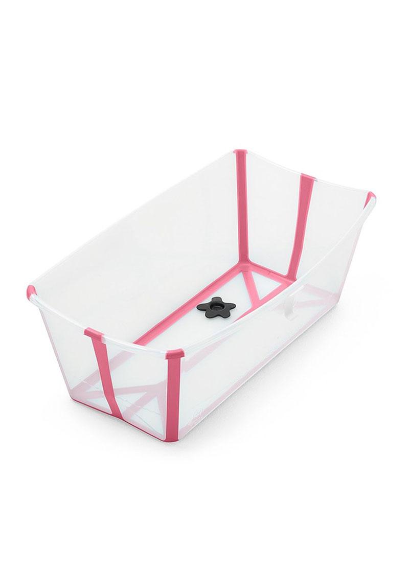 丹麥【Stokke】Flexi Bath 摺疊浴盆(透明粉)總代理公司貨-米菲寶貝 1