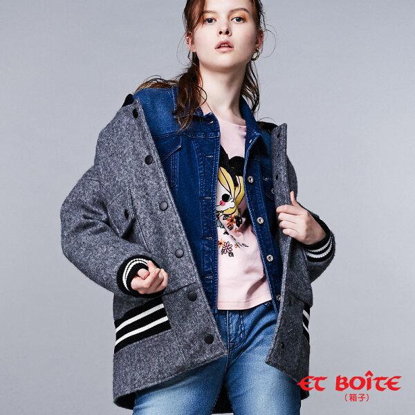 【專櫃新品】男孩風頂級羊毛棒球外套-BLUEWAYETBOiTE箱子
