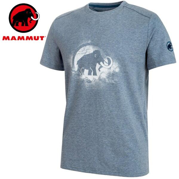 Mammut長毛象圓領排汗衣運動短袖T-Shirt休閒棉TTrovatT-Shirt男款1017-0986150013冠藍鴉