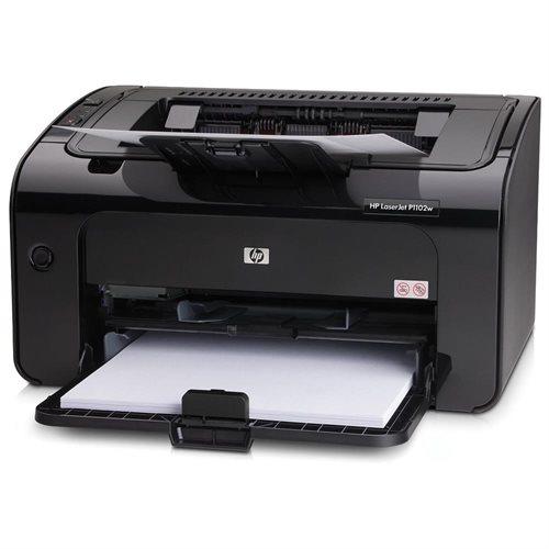 HP LaserJet Pro P1102W Laser Printer - Monochrome - 600 x 600 dpi Print - Plain Paper Print - Desktop - 19 ppm Mono Print - A4, A5, A6, B5, Postcard, C5 Envelope, DL Envelope, B5 Envelope, Legal, Custom Size - 150 sheets Standard Input Capacity - 5000 Dut 1