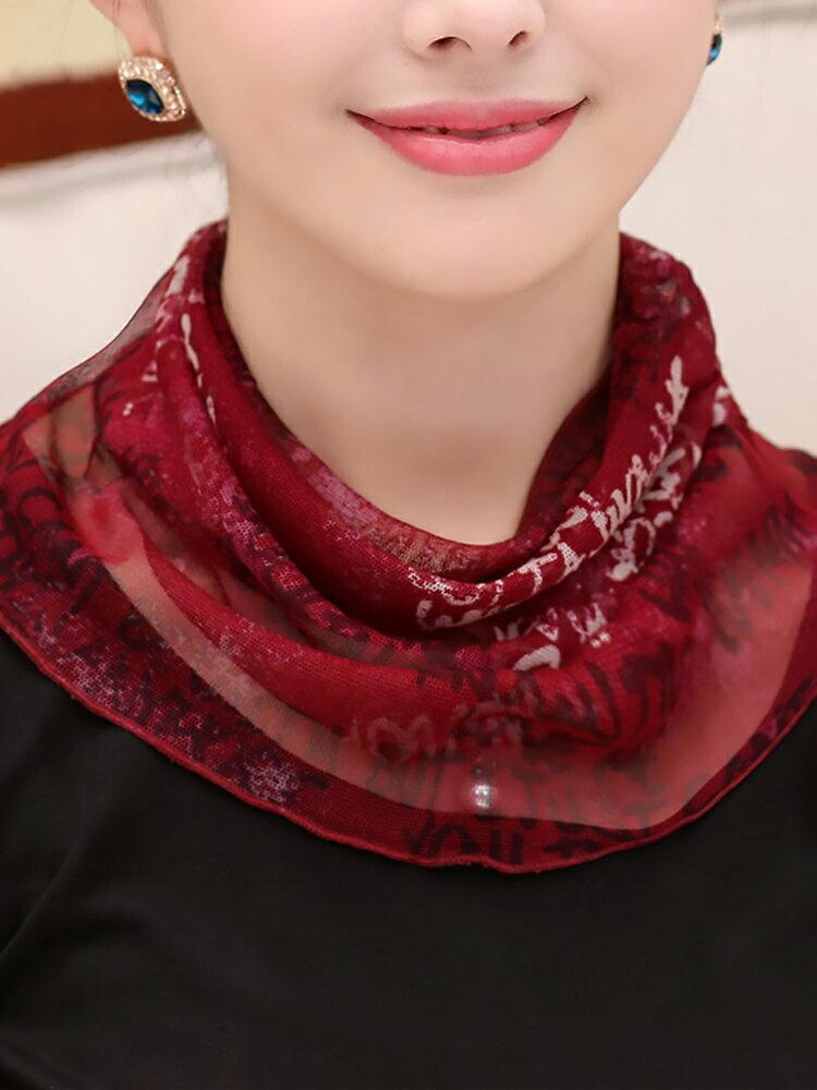 真絲圍巾女春秋小絲巾套頭防曬假領子桑蠶絲圍脖百搭薄款護頸脖套