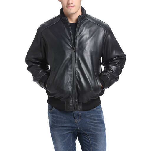 BGSD Men's Lambskin Leather Bomber Jacket 0dac03af5e4311fc1f3ecccf552fe1f6