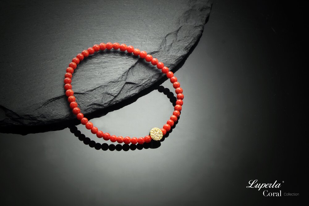 大東山珠寶 富貴永恆 頂級天然全紅珊瑚手鍊 3-4mm 4
