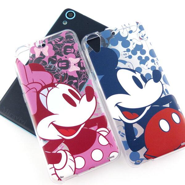 【Disney】HTCDesire626時尚彩繪人物透明保護軟套