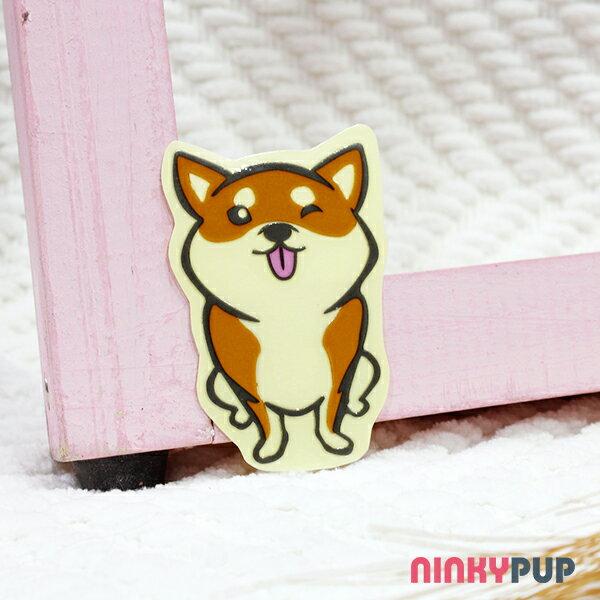 [反光貼紙] 柴犬 淘氣款 6.6*3.9 cm