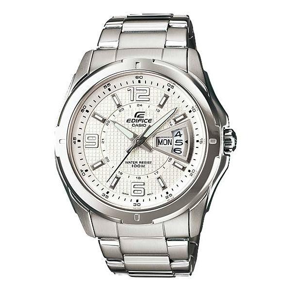 CASIO EDIFICE EF-129D-7A簡約雙日曆賽車腕錶/白面45mm