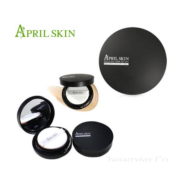 韓國 April Skin 天然魔法石氣墊粉餅 黑盒