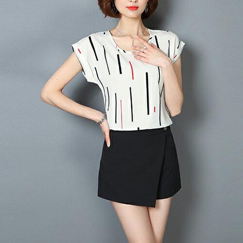女裝 新品 夏季 短袖 圓領  寬鬆  修身 上衣款【102-04】【 M ~ 3XL】*86精品女人國*