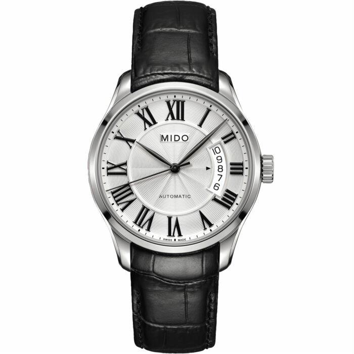 Mido 美度錶 M0244071603300 Belluna經典全拋光男士皮革腕錶   / 40mm - 限時優惠好康折扣