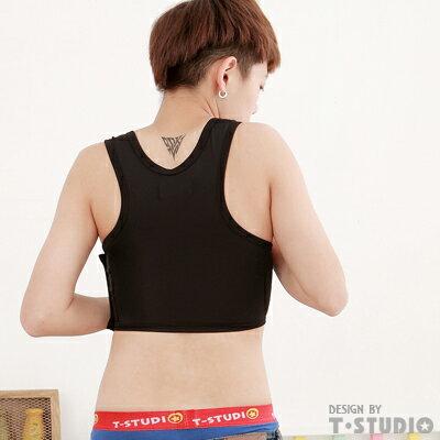 (T-STUDIO)好事久久 成套990  /  C3粘式半身束胸內衣-黑(S) 2