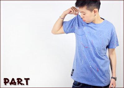 (PAR.T)嚴選服飾-滿版潑漆造型短TEE 0