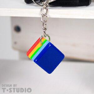 (PAR.T)彩虹商品-方塊鑰匙圈-淺藍 - 限時優惠好康折扣