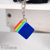 (PAR.T)彩虹商品-方塊鑰匙圈-淺藍 0