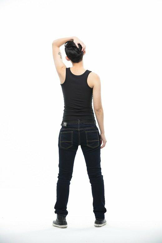 Heroine-2015新款長版雙層套頭束胸-黑 2