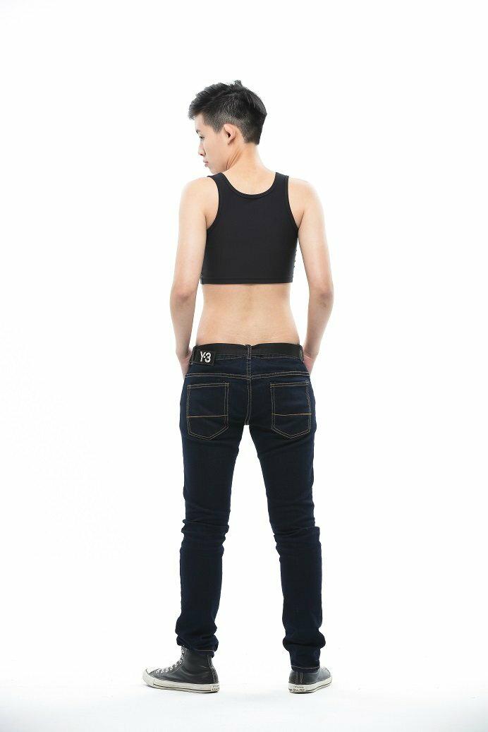 Heroine-2015新款短版雙層套頭束胸-黑 2