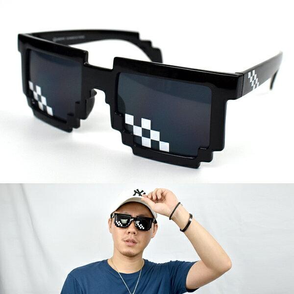太陽眼鏡 趣味方塊造型墨鏡【NY462】