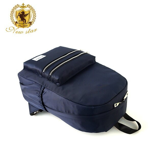 日系簡約防水撞色拉鍊口袋後背包包 NEW STAR BK242 5
