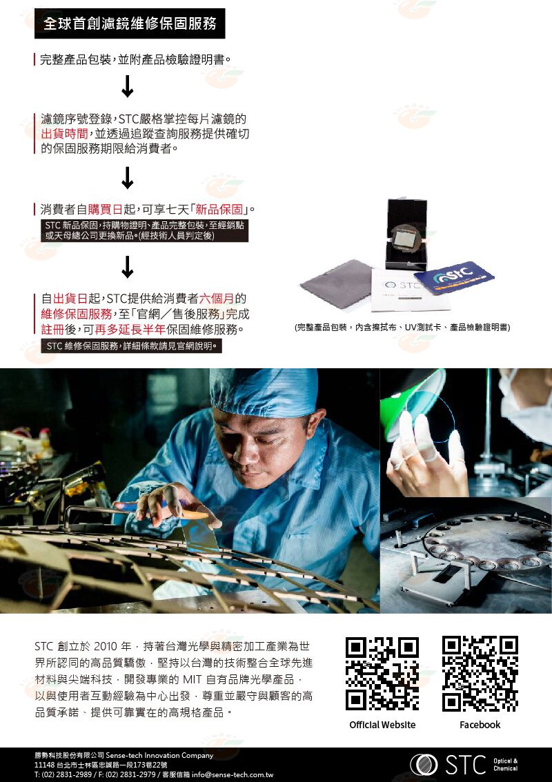 @3C柑仔店@ STC Clip Filter ND64 內置型 減光鏡 for Olympus M43 公司貨 3
