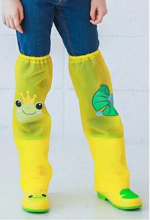 Kocotree◆ 雨天必備時尚可愛防水卡通腳套過膝雨鞋套兒童腿套-童話卡通X黃色