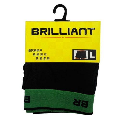 布萊恩Brilliant 彈性織帶四角褲(BR1109) 隨機