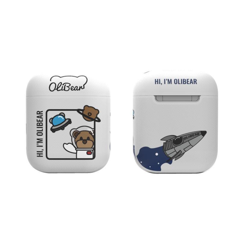 耳機保護套 蘋果AirPods保護套2皮質藍芽耳機殼太空人三代pro軟原創二【全館免運 限時鉅惠】