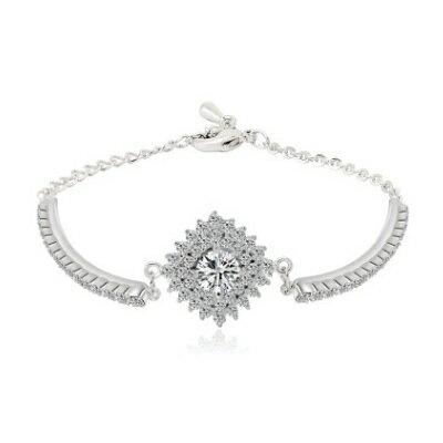 純銀手鍊 鍍白金鑲鑽手環 ~ 簡約 生日情人節 女飾品73cv40~ ~~米蘭 ~