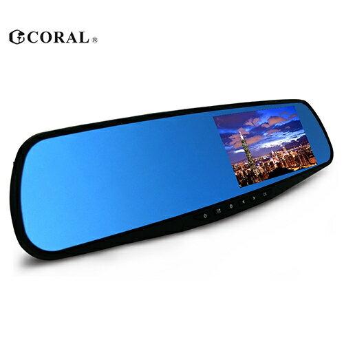 CORAL F1後視鏡型1080P行車紀錄器【愛買】