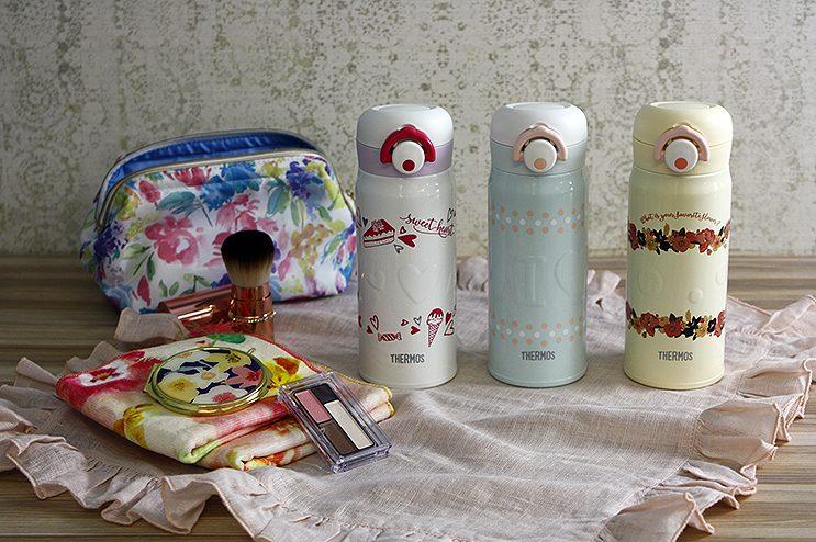 【預購】 星野日本雑貨 可愛い💖THERMOS 400ml 彈蓋式 不鏽鋼 水壺 保溫瓶 保溫杯 JNR-400 【星野生活王】