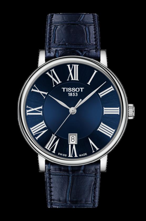 清水鐘錶 TISSOT 天梭 T1224101604300 CARSON系列羅馬經典時尚男錶 銀 藍 40mm
