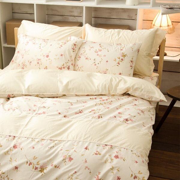 床包組-單人 [PRIMARIO法式春氛] 100%精梳純棉 ; SGS檢驗通過 ; 翔仔居家台灣製