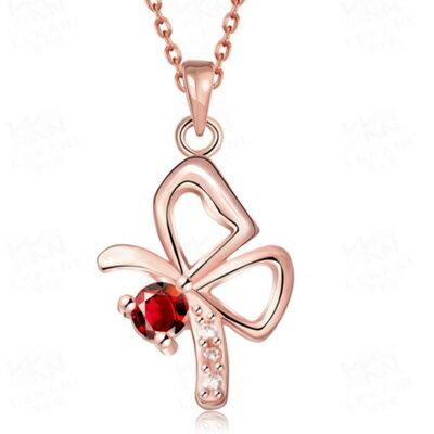 ~玫瑰金項鍊 純銀鑲鑽吊墜~耀眼 華麗母親節生日情人節 女飾品73br113~ ~~米蘭