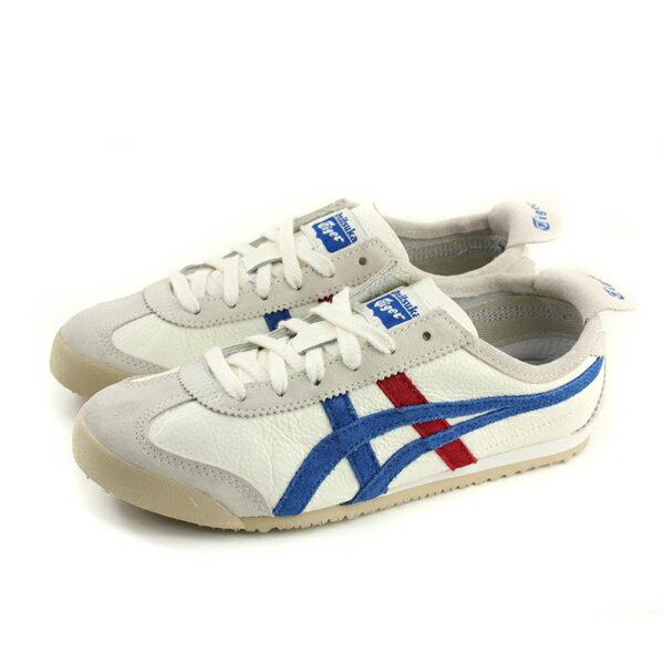 OnitsukaTigerMEXICO66VIN運動鞋白藍條紋男鞋TH2J4L-0142no282