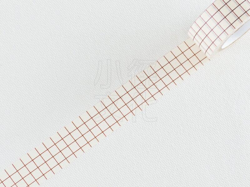 *小徑文化*日本進口 倉敷意匠計畫室 方眼紙膠帶系列 - 18mm 栗色,單捲 ( 45019-16 )
