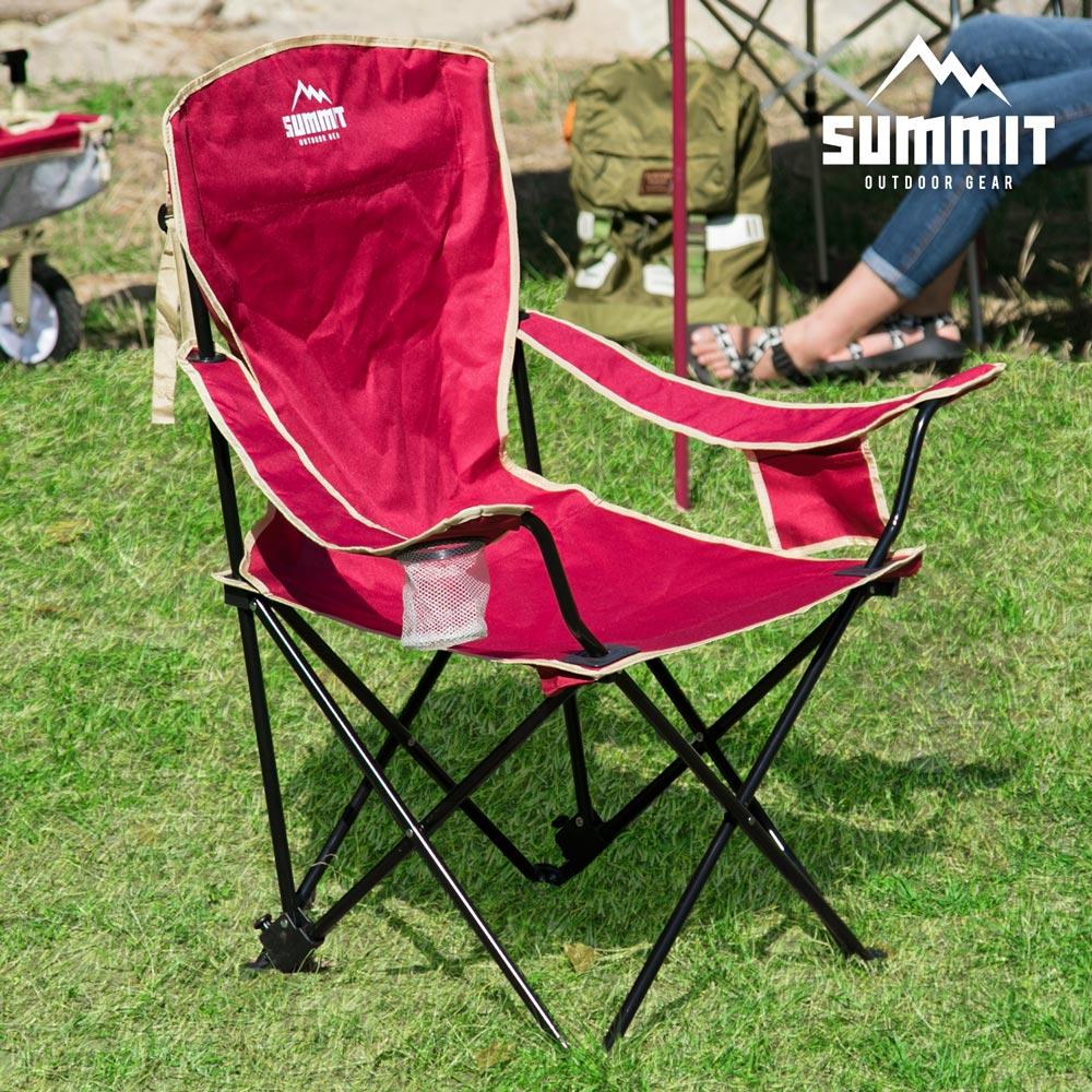 【日本品牌MODERN DECO】戶外系列高椅背 / 輕巧摺疊椅 / 露營折疊椅 / 紅色 / H&D東稻家居 / 好窩生活節 0