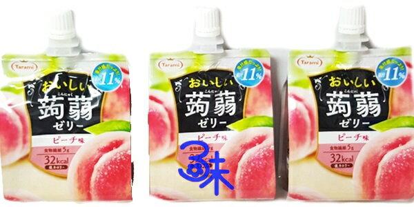 (日本) Tarami 吸吸蒟蒻果凍-水蜜桃 (達樂美果凍飲便利包 - 水蜜桃 蒟蒻青葡萄吸管果凍 ) 1組 3 個 (150公克 *3個) 特價 159 元 【 4955129012747 】