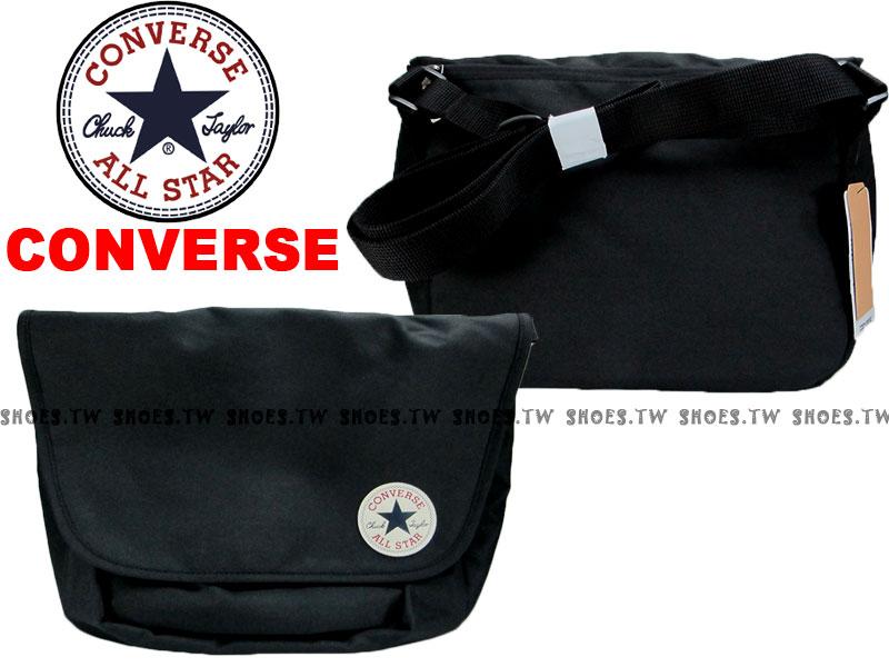 Shoestw【10002204001、10002974A01】CONVERSE ALLSTAR 郵差包 黑色 隨行包 側背包