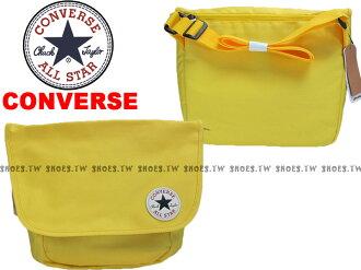 Shoestw【12039C731】CONVERSE ALLSTAR 郵差包 黃色 隨行包 側背包